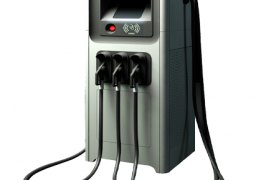 Wisepower commercial EV fast charger box with 3 plugs